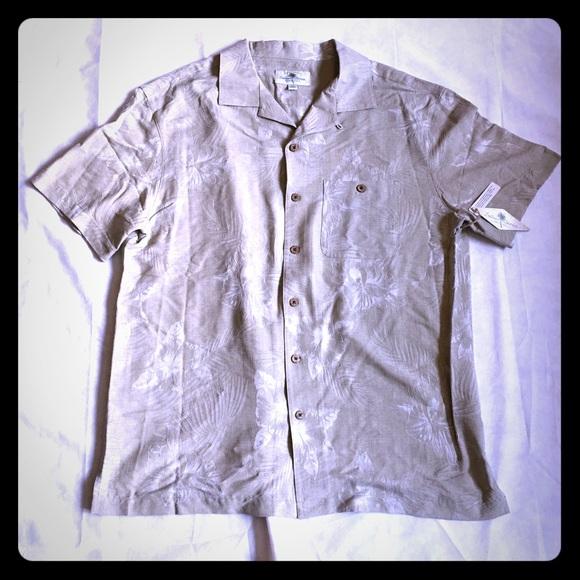2f3d4a85 Island Shores Shirts | Mens Short Sleeve Beige Shirt Xxl | Poshmark